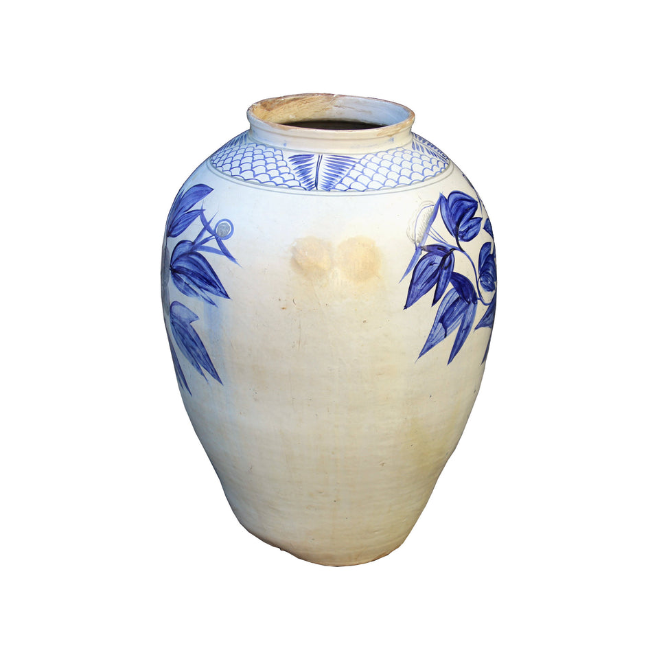 North Korean Blue & White Jar