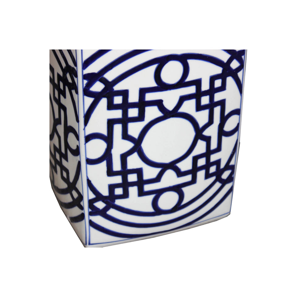 Contemporary Blue & White Ginger Jar