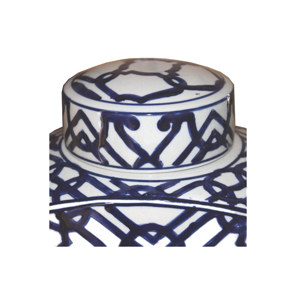 Bold Blue & White Ginger Jar