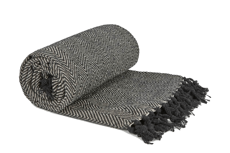 Throw (100% Cotton, Herringbone Style)