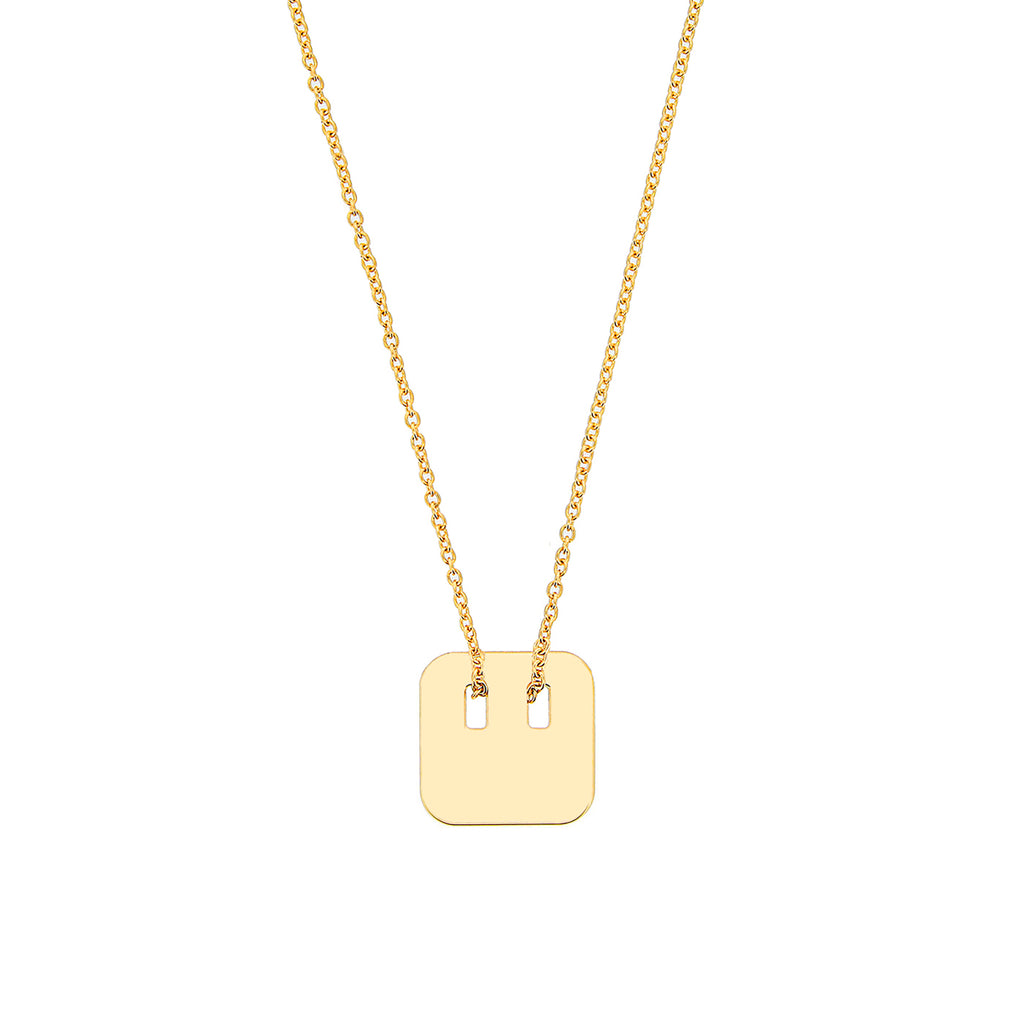 customizable necklace with a 925 silver, gold-plated or rose gold plated medal