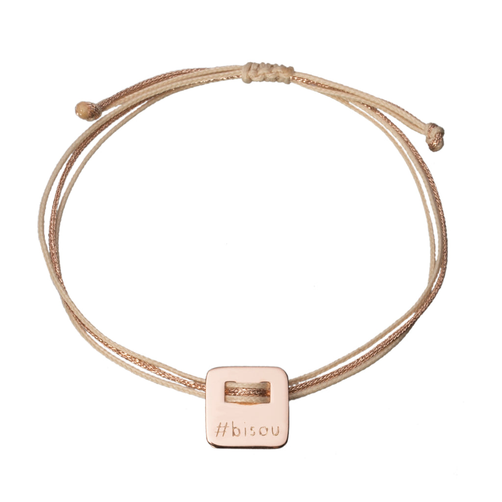 hashtag bracelet in rose gold plated