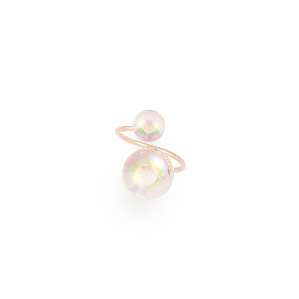 "adjustable ring ""soap bubbles"""