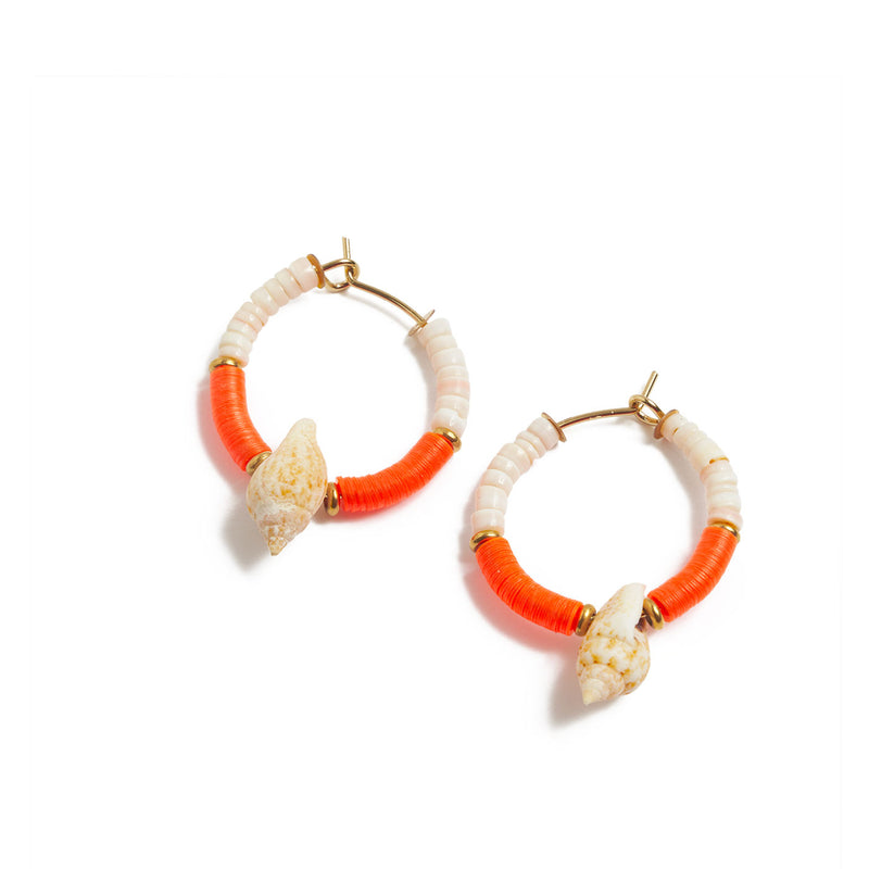 mini hoops SIARGAO with shells and sequins