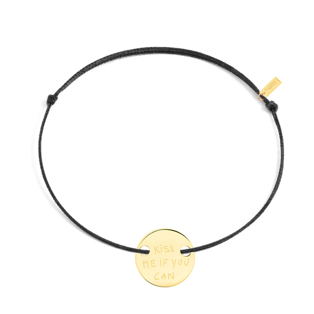 "bracelet ""kiss me if you can"" in vermeil"