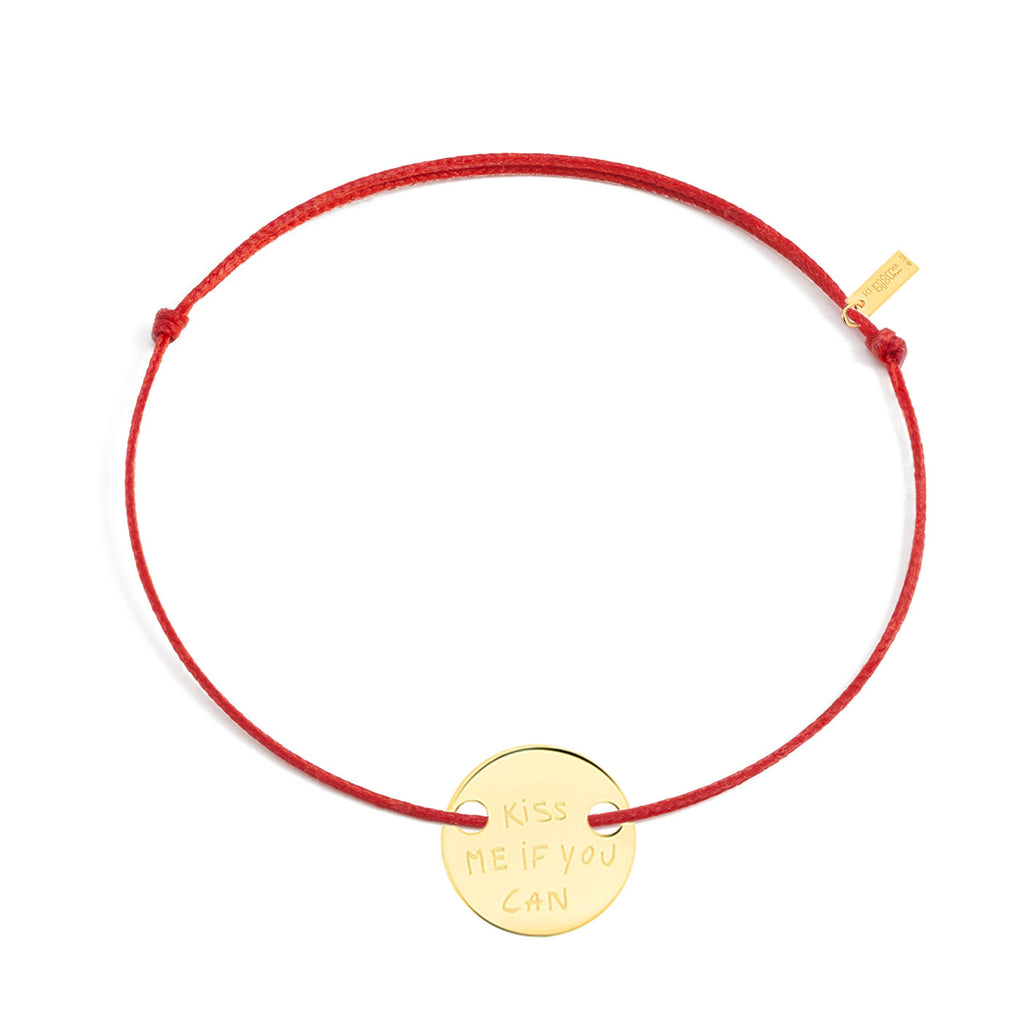 "gold-plated silver ""kiss me if you can"" bracelet"