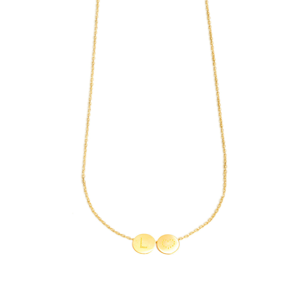 18-karat gold necklace with 2 customizable medals
