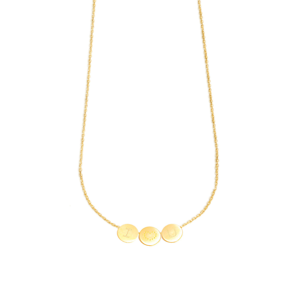 18-karat gold necklace with 3 customizable medals