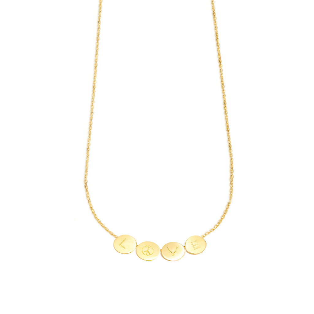 18k gold necklace with 4 customizable medals