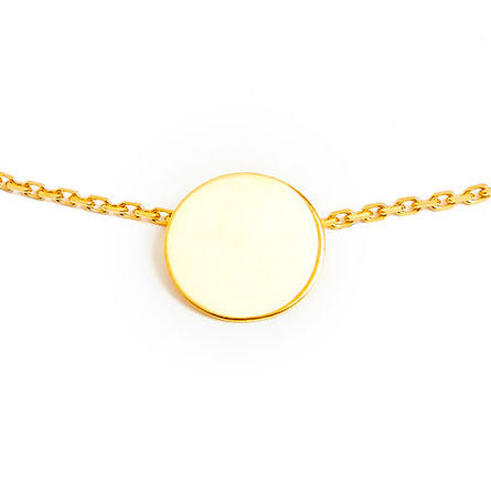 18 carat gold bracelet with a medal
