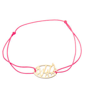 "bracelet ""dans ma bulle"" in gold plated"