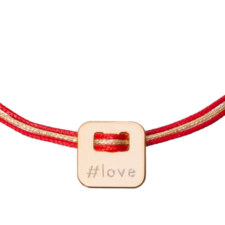 hashtag bracelet in gold plated