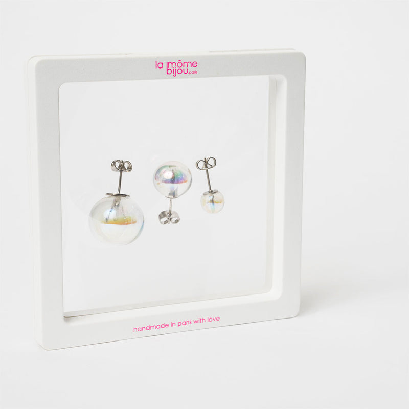 one bubble stud earrings (trio)