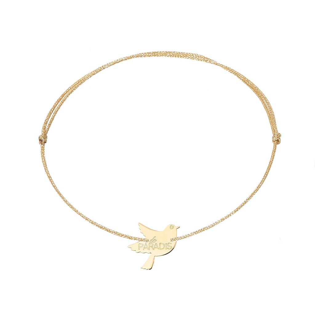 "Bracelet with a ""bird of paradise"" silver 925, gold plated or pink gold plated"