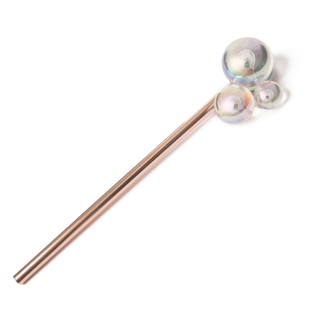 hair pin with 3 bubbles