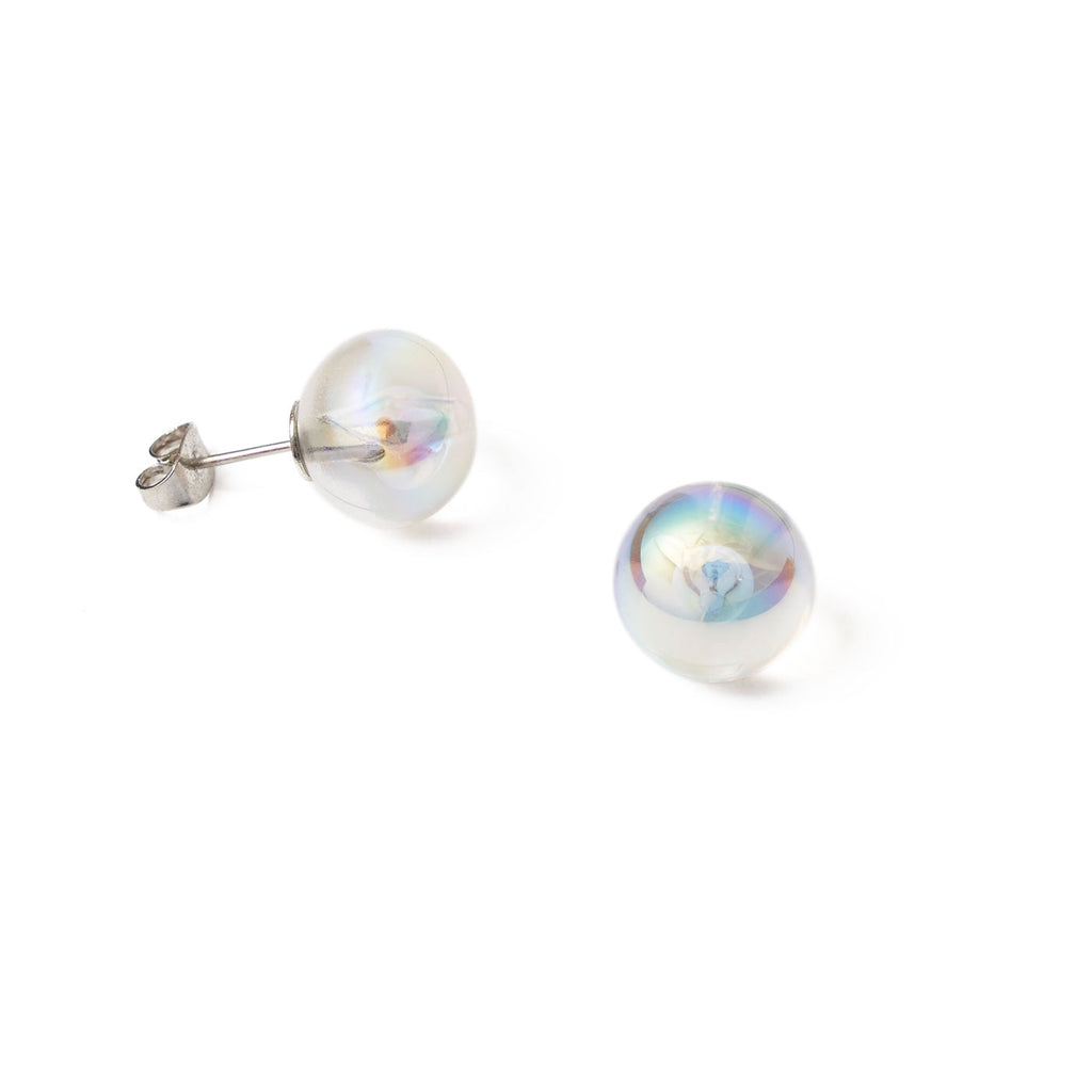 one bubble stud earrings
