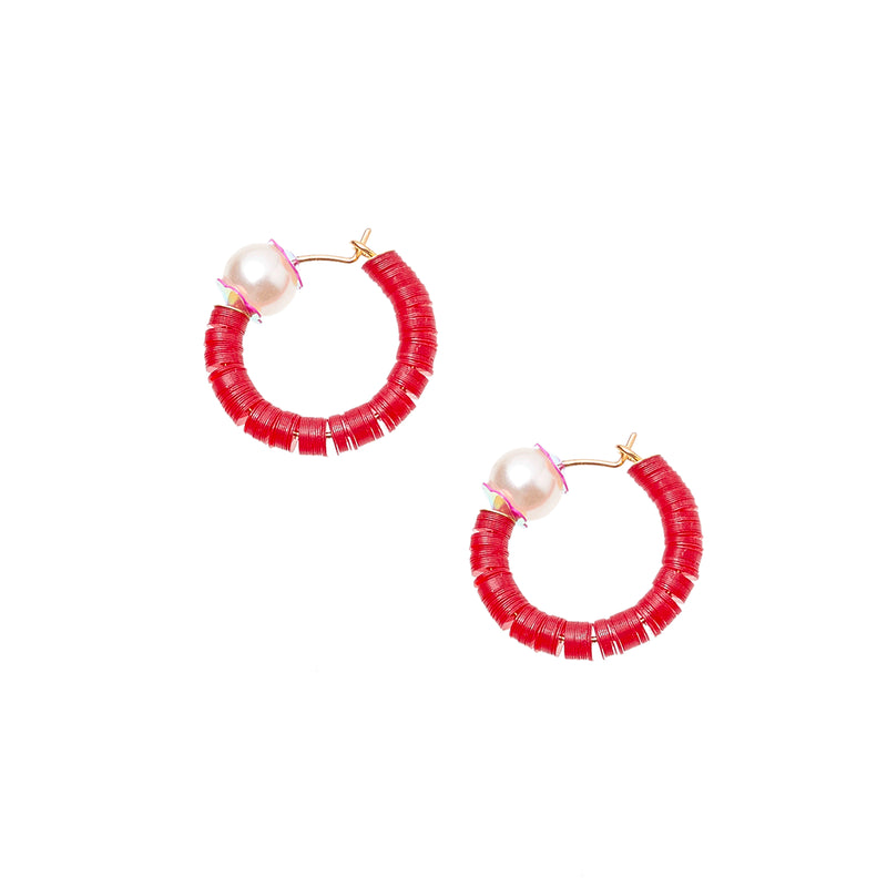 mini hoops with sequins