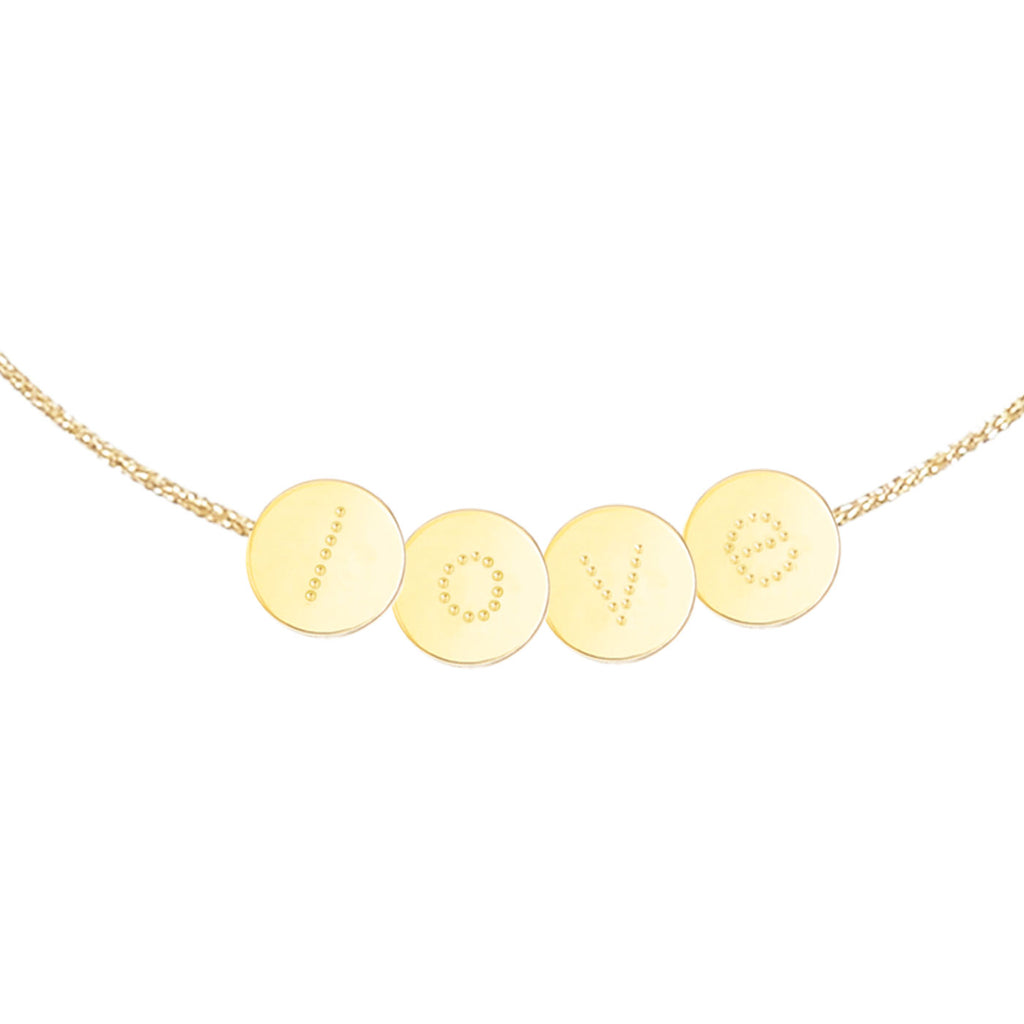"Bracelet ""love"" en plaqué or"