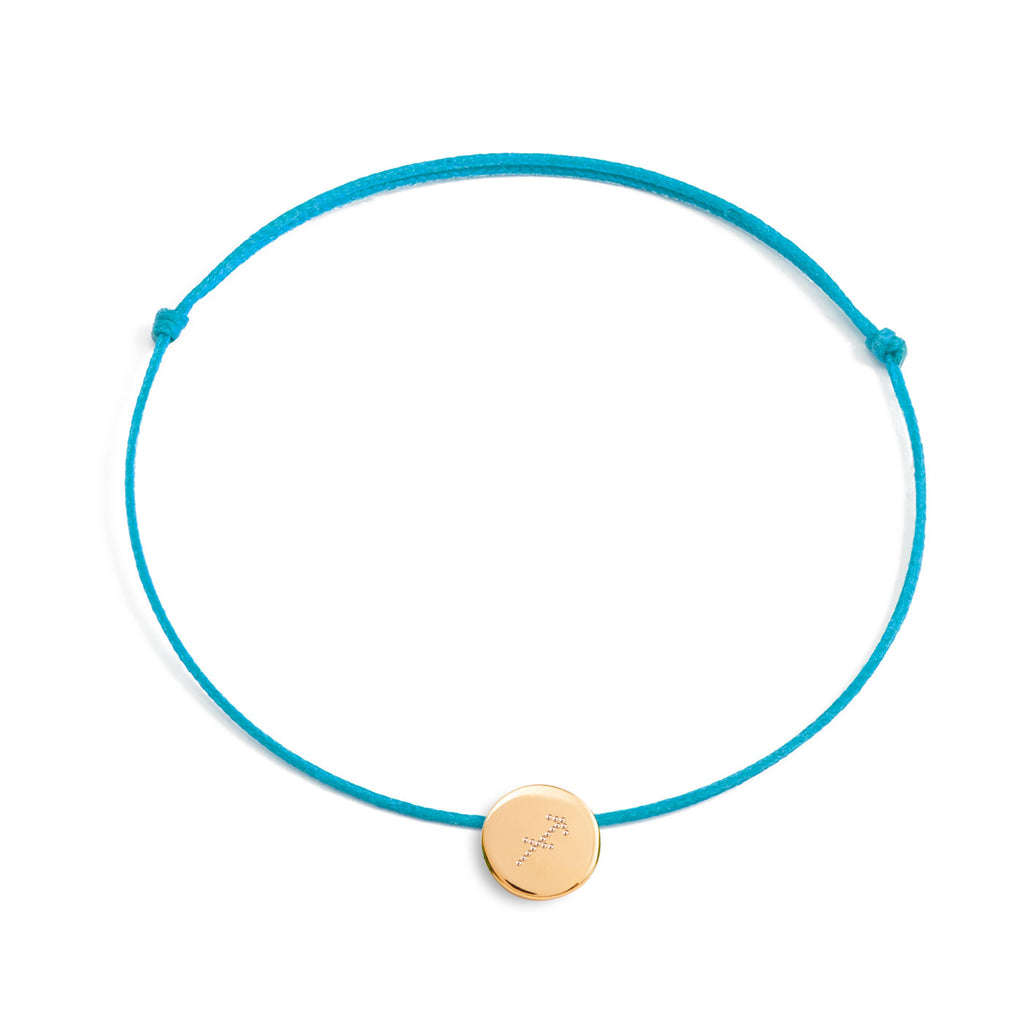 bracelet with a zodiac sign on a medal in 925 silver, gold plated or rose gold plated