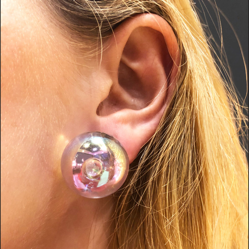 one bubble earrings with clips