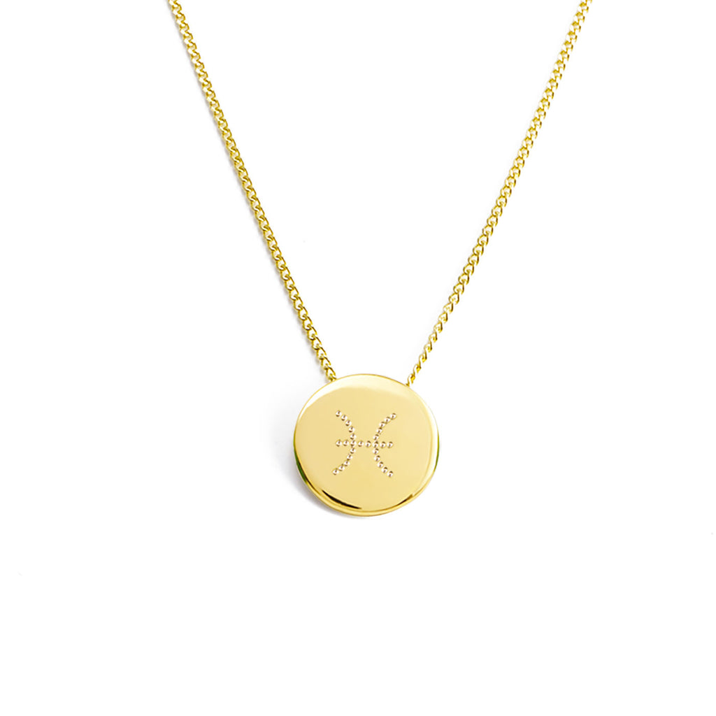 necklace with a zodiac sign