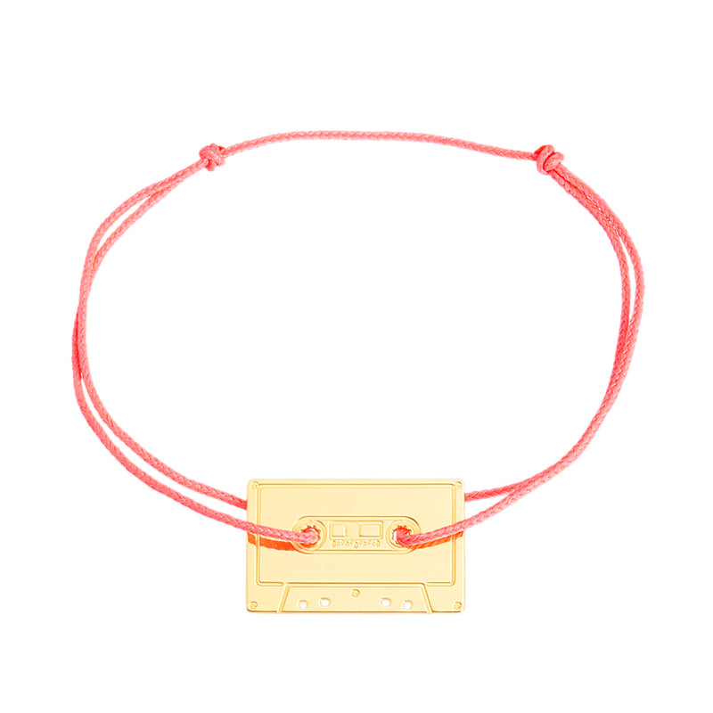 customizable bracelet with a cassette in silver 925 or gold plated