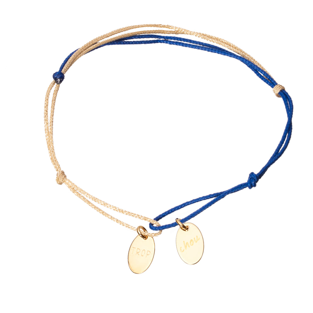 bracelet with 2 charms in gold plated