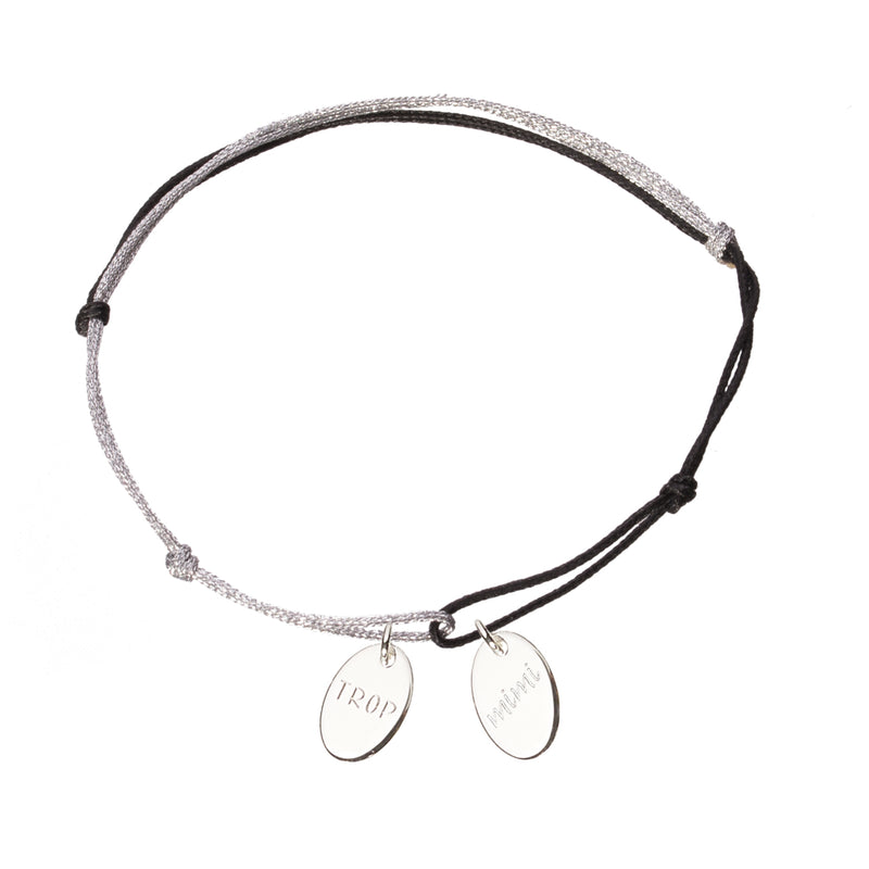 bracelet with 2 charms in silver 925