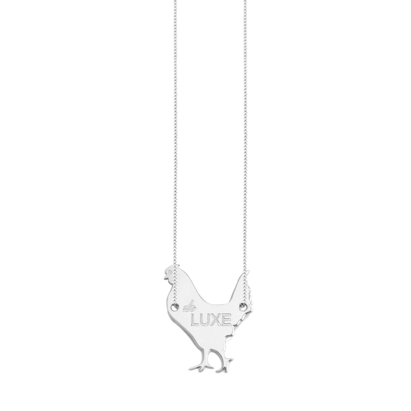 "necklace with a ""poule de luxe"""