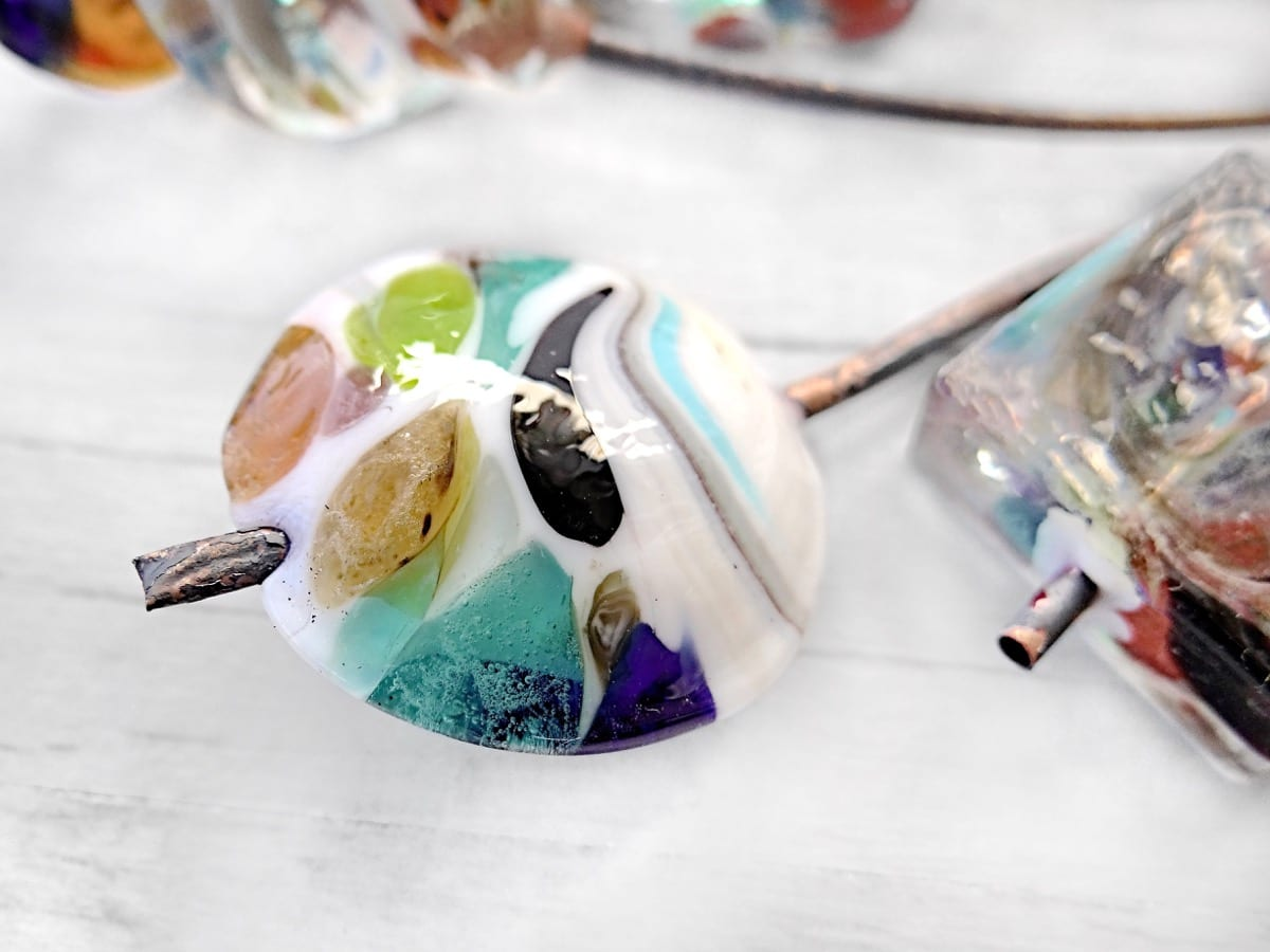 Close up of what will become the hole of the Murano Glass bead.