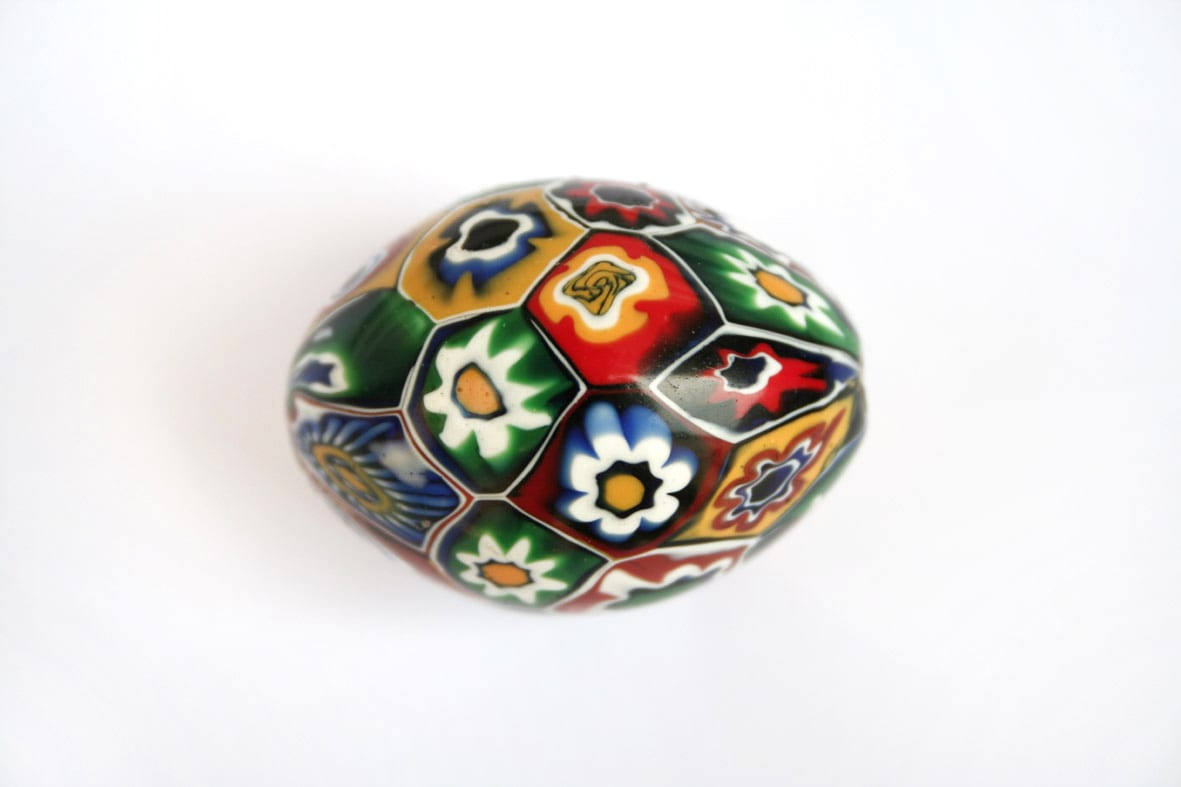 Millefiori bead. Source: Murano's Museum of Glass