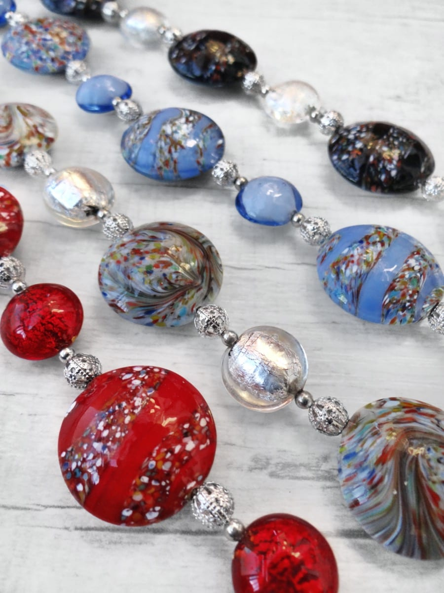 Murano Glass jewelry decorated a Màcie.
