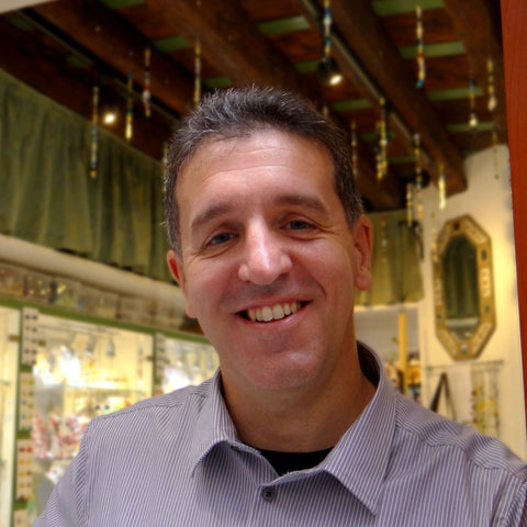 Nicola Miani, artisan and owner of Miani Venetian Jewelry, a Murano glass jewelry workshop in Venice, Italy