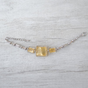 Cantóni - Gold Murano Glass Bracelet