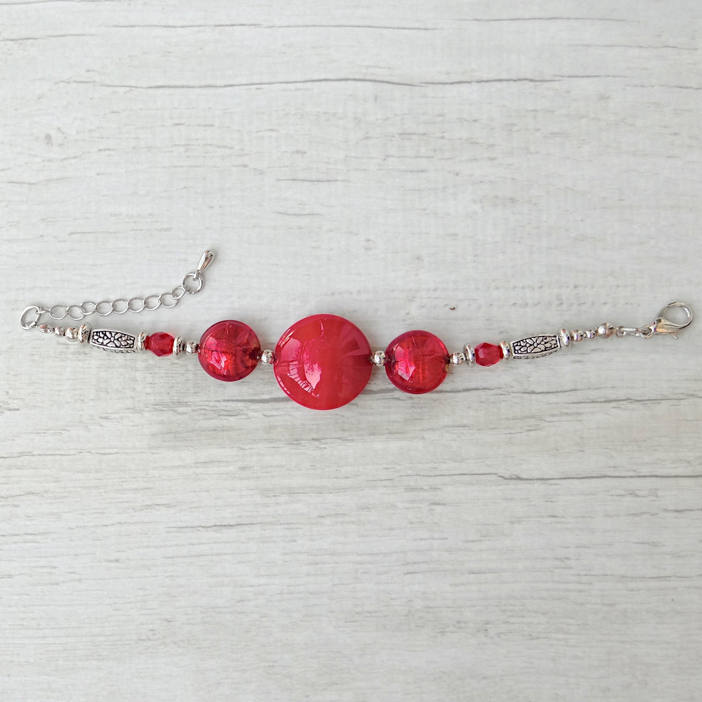 Làgreme - Red Murano Glass Bracelet