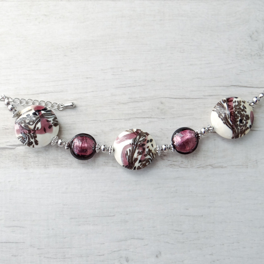Schèi - Purple Murano Glass Bracelet