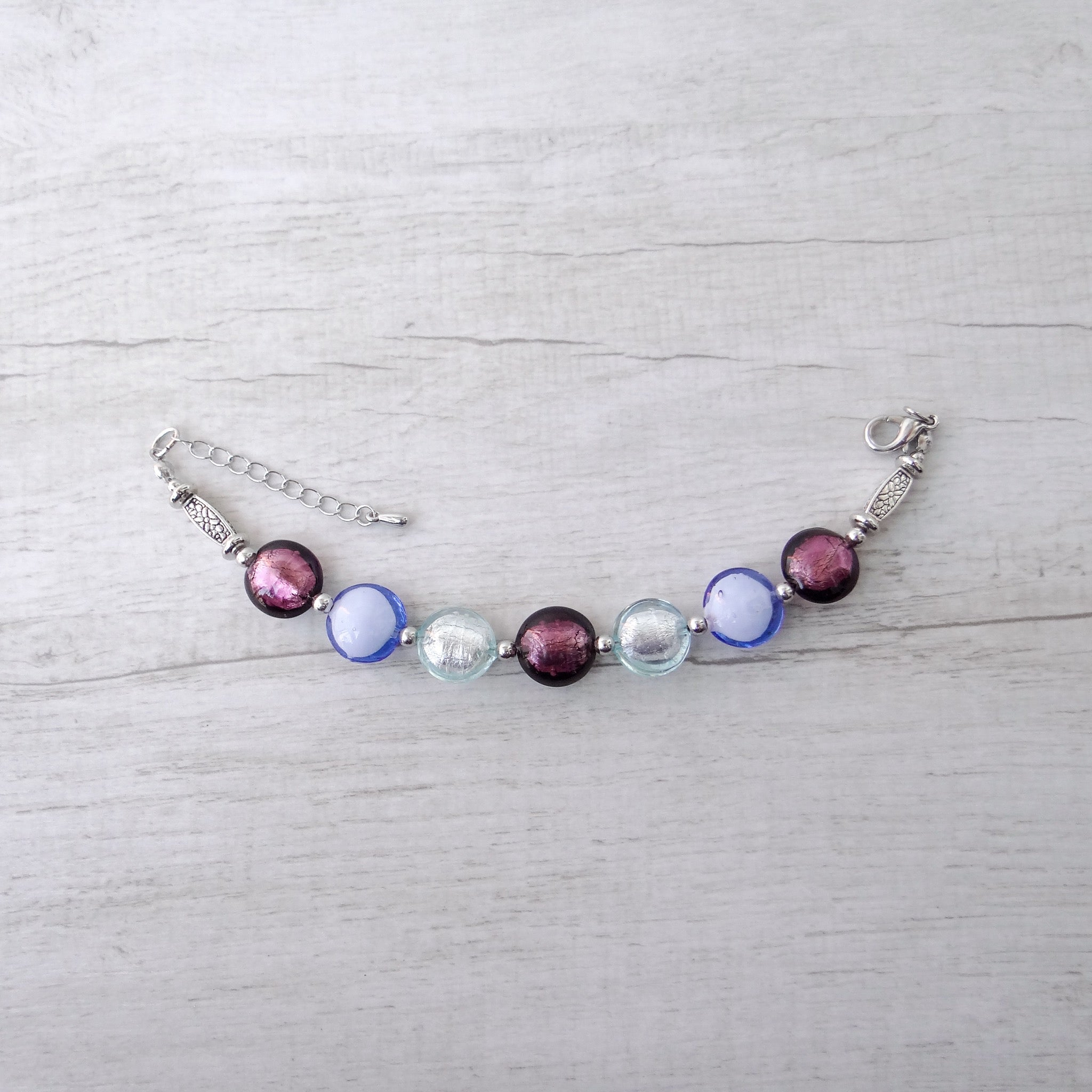 Ciàcola - Purple Murano Glass Bracelet
