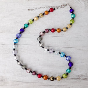 Arlechin - Multicolor Murano Glass Medium Necklace