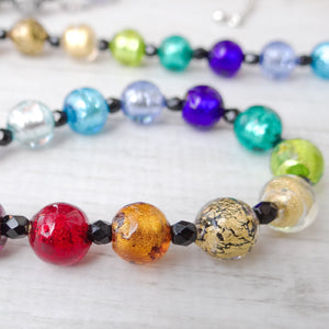 Arlechin - Multicolor Murano Glass Long Necklace