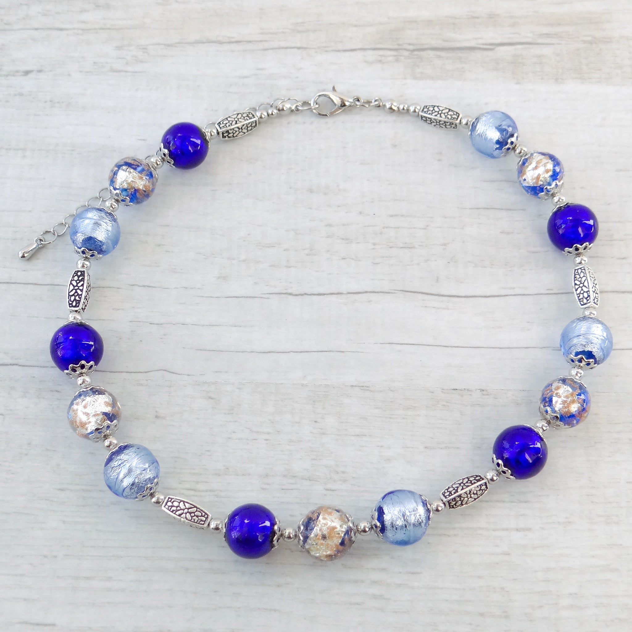 Baète - Periwinkle Murano Glass Necklace