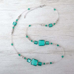 Cantóni - Blue Lagoon Murano Glass Necklace