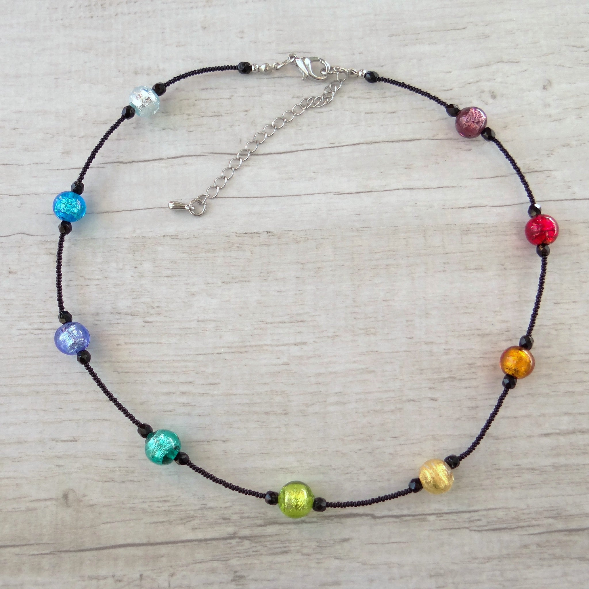 Coriandoi - Murano Glass Short Necklace