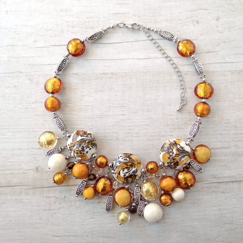 Giosse - Topaz Murano Glass Necklace