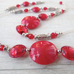 Làgreme - Red Murano Glass Necklace