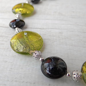 Medàgie - Green Murano Glass Necklace
