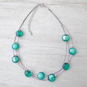 Rèfolo - Blue Lagoon Murano Glass Necklace