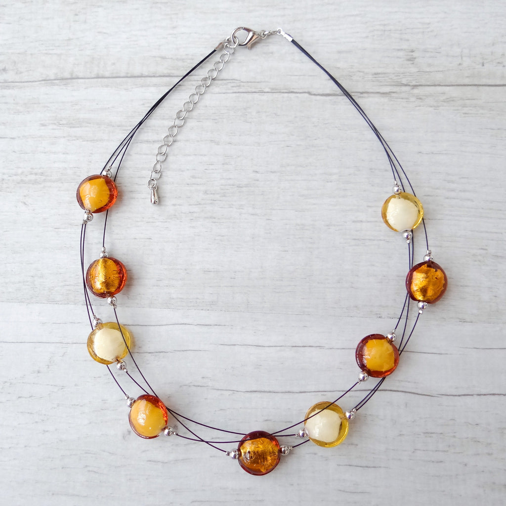 Rèfolo - Topaz Murano Glass Necklace