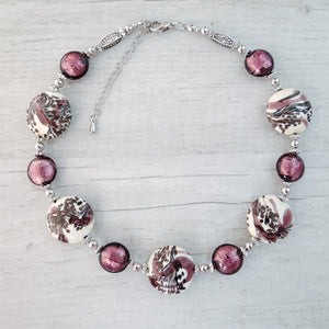 Schèi - Purple Murano Glass Necklace