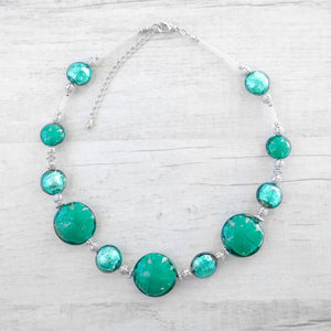 Schisse - Blue Lagoon Murano Glass Necklace
