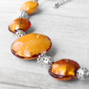 Schisse - Topaz Murano Glass Necklace